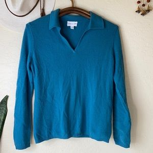 Cashmere sweater in moonstone